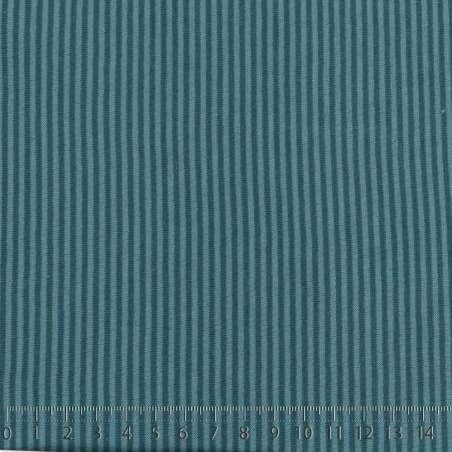 Face B: Fines Rayures Bleu Canard Sur Fond Azur Clair. 15 x 15 cm Photo.