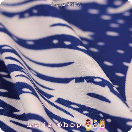 Jersey Maillot LAMARTINE Palmier Couleur Bleu Roi