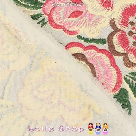 Jersey Maille LIVERPOOL Floqué Gomme Fleurs De Camélia Fond Blanc