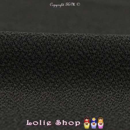 Jersey Crêpé Uni Couleur Noir