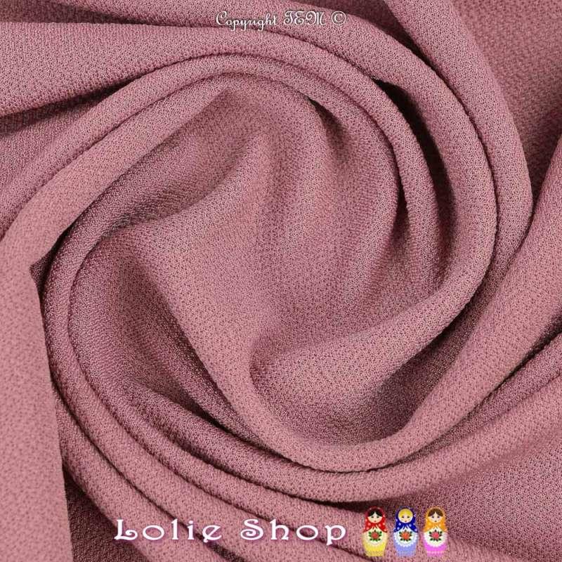 Jersey Crêpé Uni Couleur Vieux Rose