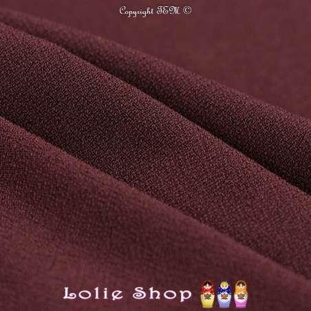 Jersey Crêpé Uni Couleur Prune