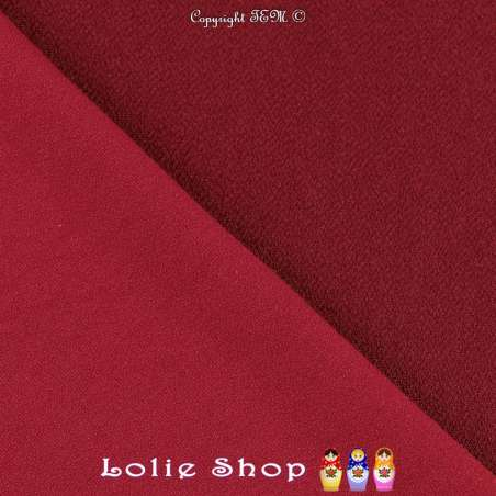 Jersey Crêpé Uni Couleur Bordeaux