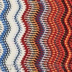 Jersey Cristal CALIENTE Gomme Imprimé Vague Nuance de Rouge. 15 x 15 cm Photo.