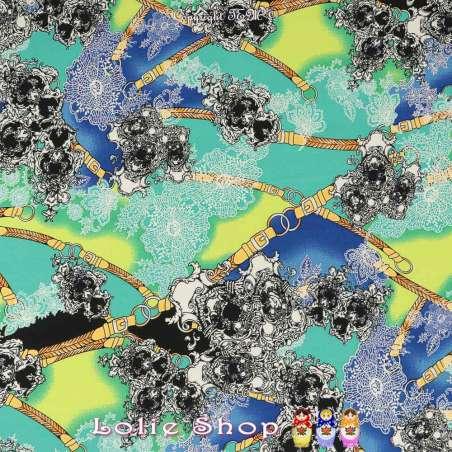 Jersey Cristal PAOLINA Imprimé Bohème Fond Givré