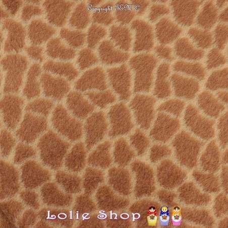 Fourrure Synthétique Imprimé Peau de Girafe Foncé