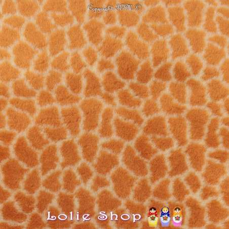 Fourrure Synthétique Imprimé Peau de Girafe Clair