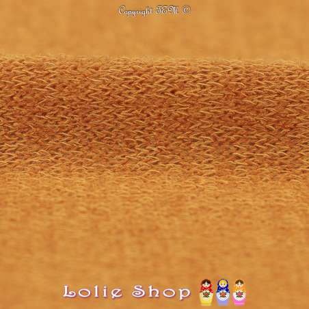 Tricot Maille Fine Entrelacées Gamme BLOOM LITE Moutarde