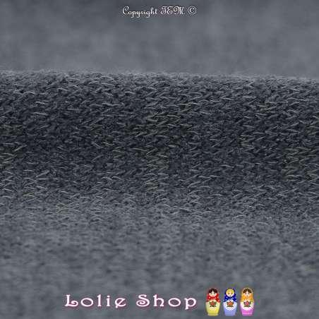 Tricot Maille Fine Entrelacées Gamme BLOOM LITE Bleu Ardoise