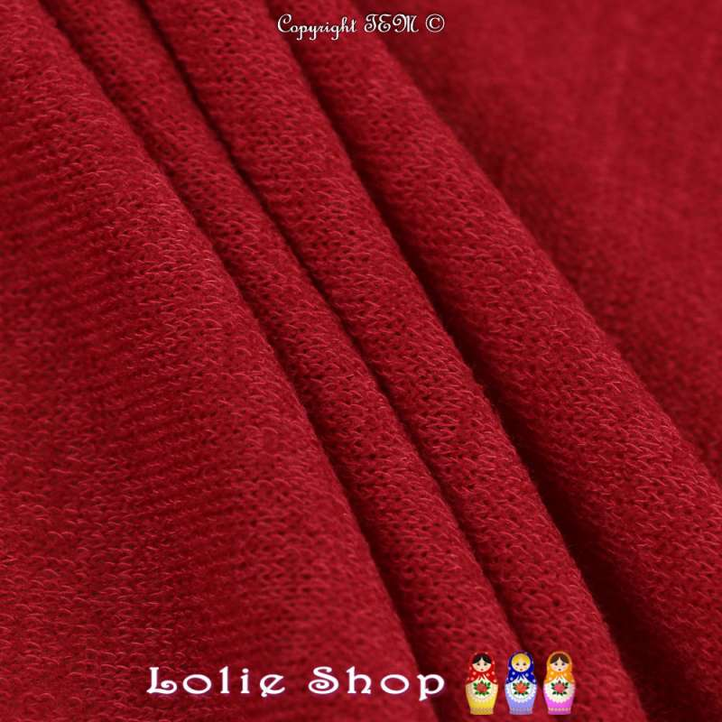 Tricot Maille Fine Entrelacées Gamme BLOOM LITE Rouge