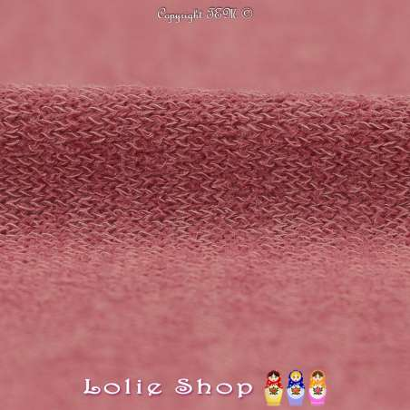 Tricot Maille Fine Entrelacées Gamme BLOOM LITE Vieux Rose Chiné