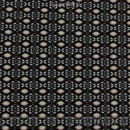 Jersey Cristal Bloqué Motif Imprimé Bohème Géométrique Mosaïque