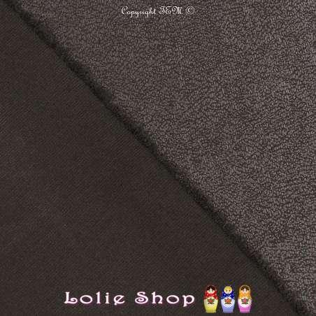 Maille Jersey Milano Uni Laqué Couleur Noir Reflet Satiné