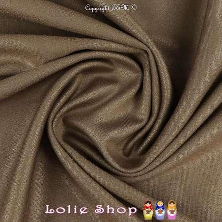 Maille Jersey Milano Uni Laqué Couleur Bronze Reflet Satiné