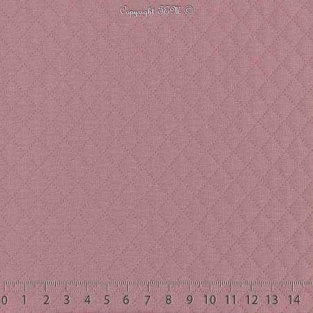 Tissu Jersey Matelassé Losanges Couleur Vieux Rose