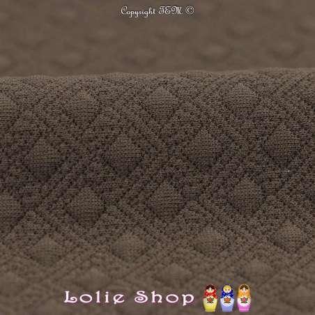 Tissu Jersey Matelassé Losanges Et Zigzag Couleur Bronze