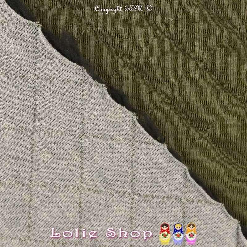 Tissu Jersey Tubulaire Matelassé Losange Double Face