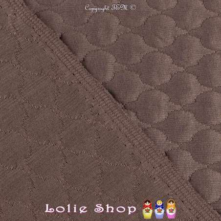 Tissu Jersey Matelassé Effet Arrondi Couleur Choco