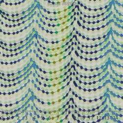 Microfibre Élasthanne Imprimé Perles de couleurs Fond Blanc