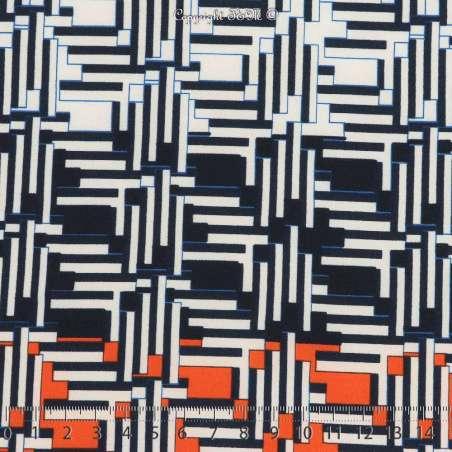 Microfibre Élasthanne Imprimé Pixels Abstrait Fond Marine. 15 x 15 Cm Photo
