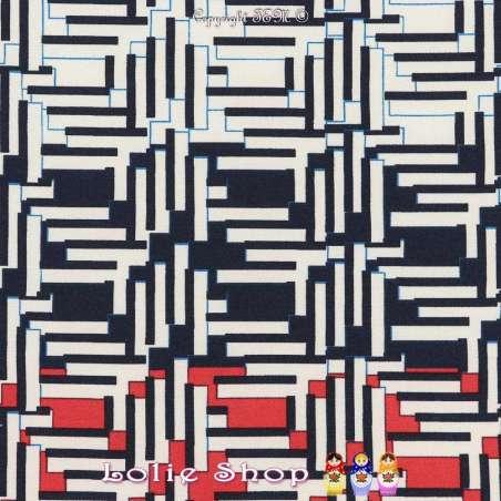 Microfibre Élasthanne Imprimé Pixels Abstrait Fond Blanc