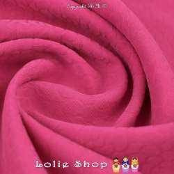 Jacquard Polyester Imprimé Effet Fleurs Couleur Fushia