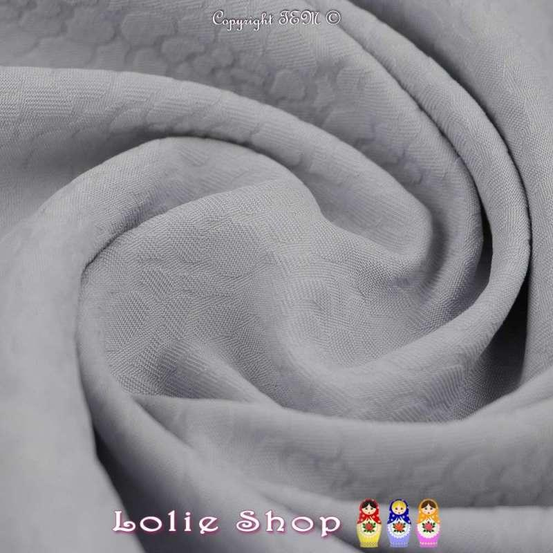 Jacquard Polyester Imprimé Effet Fleurs Couleur Gris