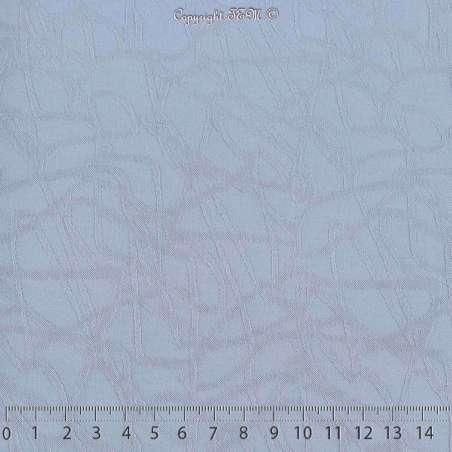 Jacquard Polyester Imprimé Effet Filament Couleur Bleu Charrette. 15 x 15 Cm Photo.