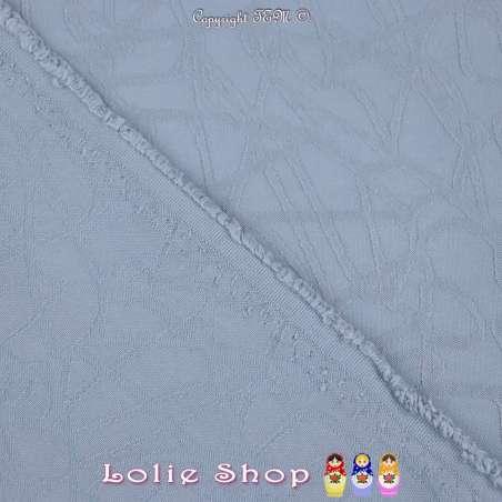 Jacquard Polyester Imprimé Effet Filament Couleur Bleu Charrette