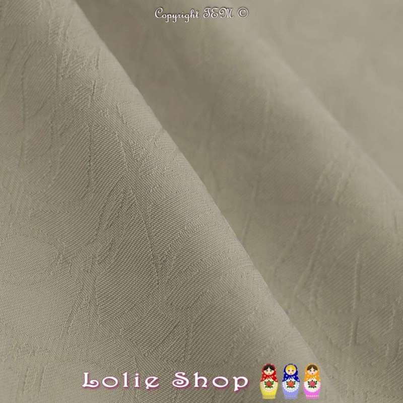 Jacquard Polyester Imprimé Effet Filament Couleur Beigeasse