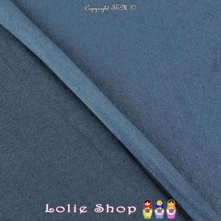 Tissu Suédine Légère / Chamoisine Uni Couleur Bleu Pétrole