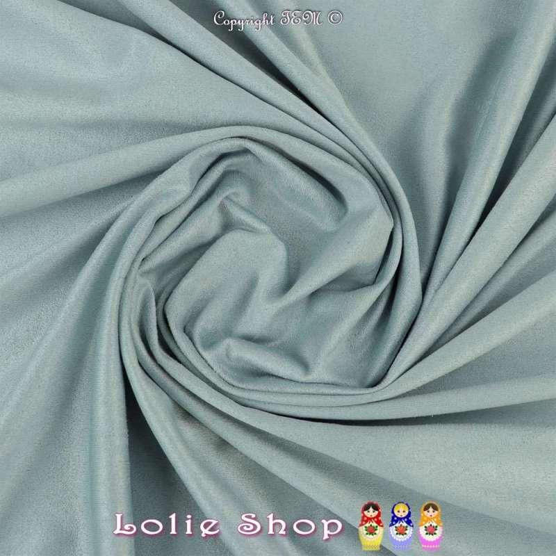 Tissu Suédine Légère / Chamoisine Uni Couleur Givré
