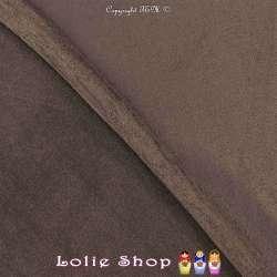 Tissu Suédine Légère / Chamoisine Uni Couleur Taupe