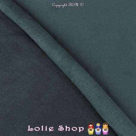 Tissu Suédine Légère / Chamoisine Uni Couleur Bleu Minéral