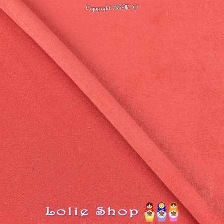 Tissu Suédine Légère / Chamoisine Uni Couleur Corail