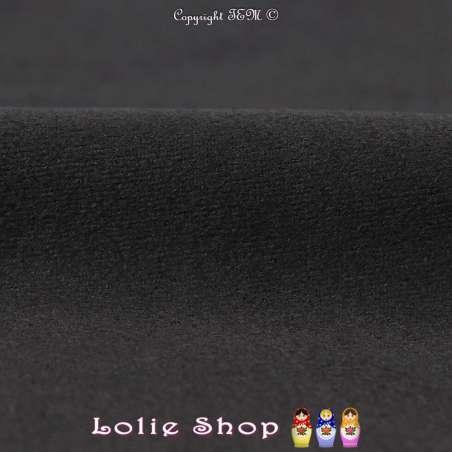 Tissu Suédine Légère / Chamoisine Uni Couleur Noir