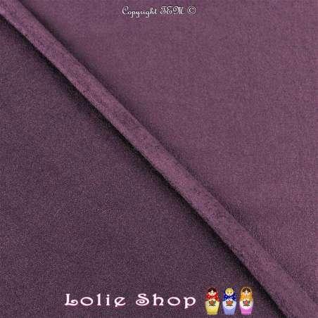 Tissu Suédine Légère / Chamoisine Uni Couleur Violet
