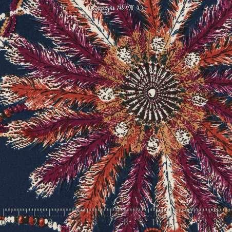 Microfibre Imprimé Plumes Thème Rêves Fond Marine. 15 x 15  Cm Photo