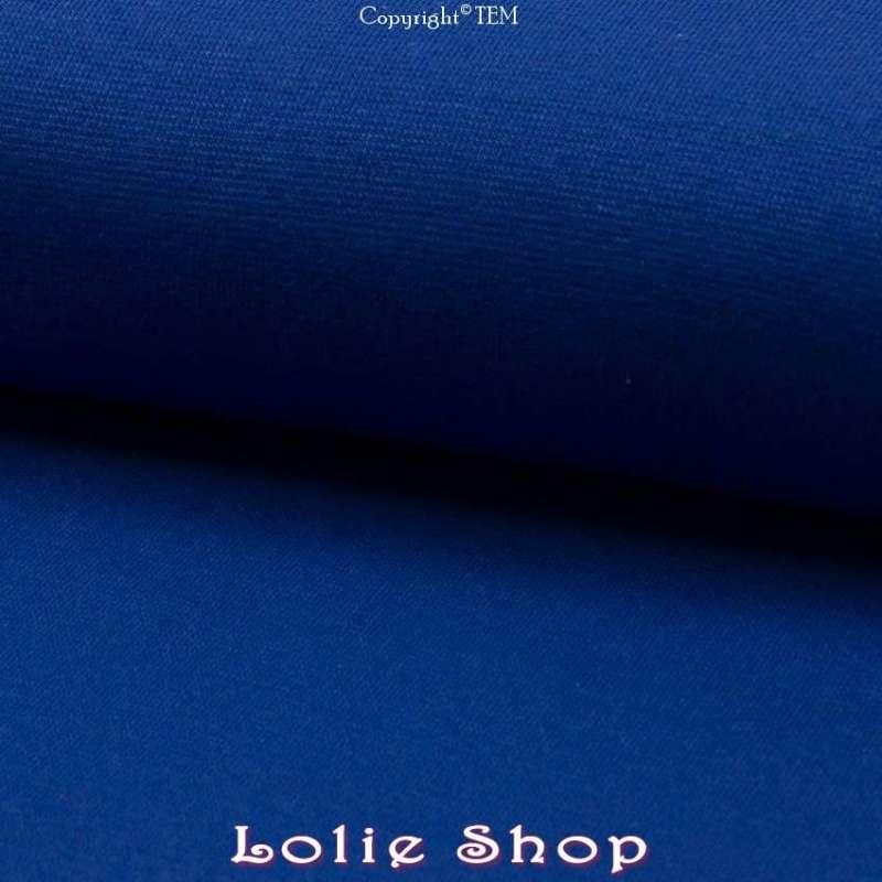 Jersey Bord Côte Tubulaire Bleu Roi