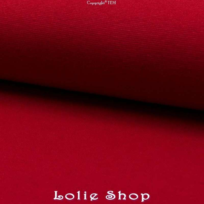 Jersey Bord Côte Tubulaire Rouge