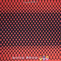 Tissu Voile De Coton Imprimé à Bases Motif Gros Pois Rouge