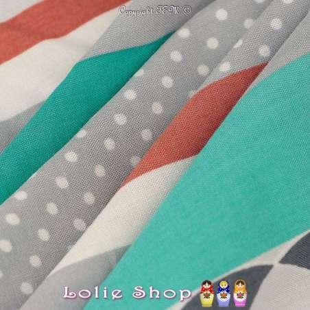 Tissu Viscose Imprimé Motif Fleurs À Bases Ton Bleu Tiffany