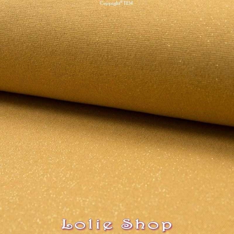 Jersey Bord Côte Lurex Tubulaire Moutarde & Argent