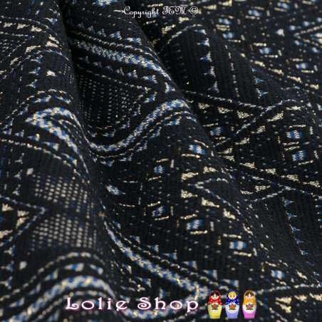 exceptionnel tissus-Jacquard Maille Texturé Latex Fond Marine