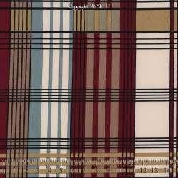 Tissu Microfibre Imprimé Vichy Fond Bordeaux. 15 x 15 Cm Photo