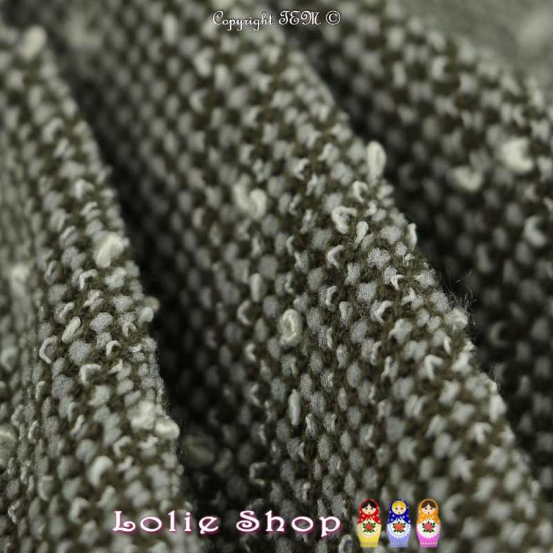 tissus-Maille Bouclette Effet Tricot