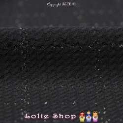tissus-Jacquard Maille Texturé Quadrillage Lurex Argent