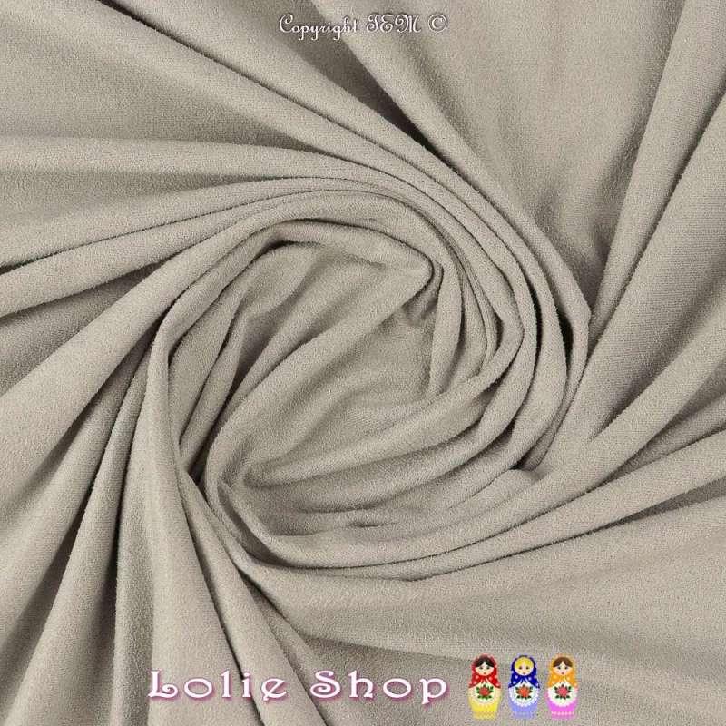 Tissu Suédine Légère / Chamoisine Uni Couleur Gris Perle