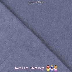 Tissu Suédine Légère / Chamoisine Uni Couleur Bleu Bleuet
