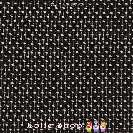 Jacquard Maille Texturé Effets Pois Blancs Fond Noir
